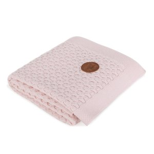 Knitted blanket in gift box (90x90) Pink waves