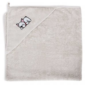 Hooded towel Tencel Line Dog 100x100 Ceba Baby