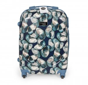 Cabin suitcase Butterfly blue