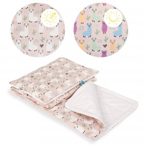 Baby blanket (75x100) + pillow (30x40) Lolly Polly Lama